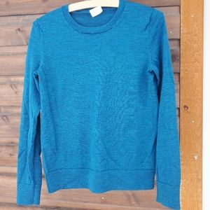 Merino knit pullover sweater heathered teal